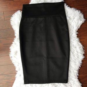 Dresses & Skirts - Satin Black Pencil Skirt